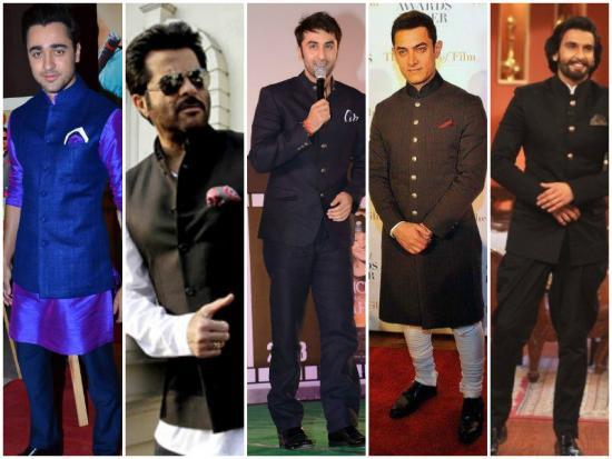 Bollywood Actors Nehru Jacket Pathani Suit For Ranveer Singh