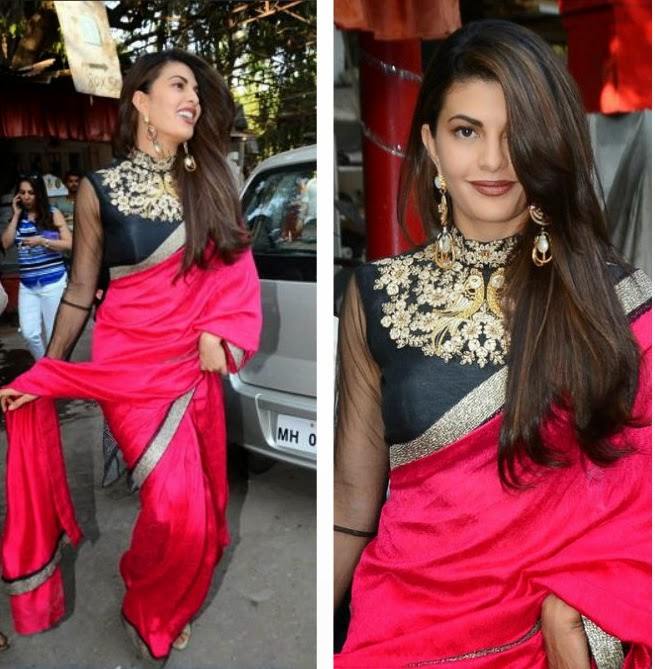 Dress Up In Jacqueline Fernandez Sarees Style Indian Fashion Mantra