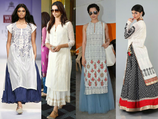 Bollywood celebs different styles of wearing a kurti for Show me western designs