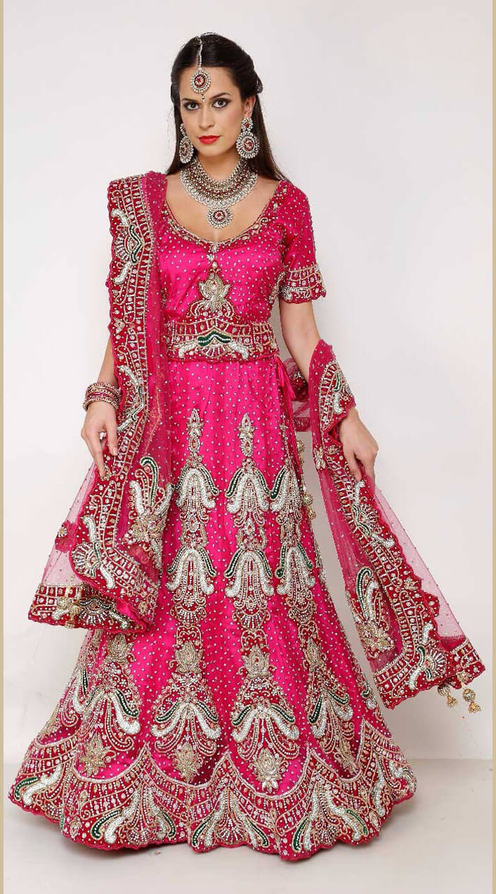 36d140d4d8 Net Engagement Pink Lehenga Choli DT0865