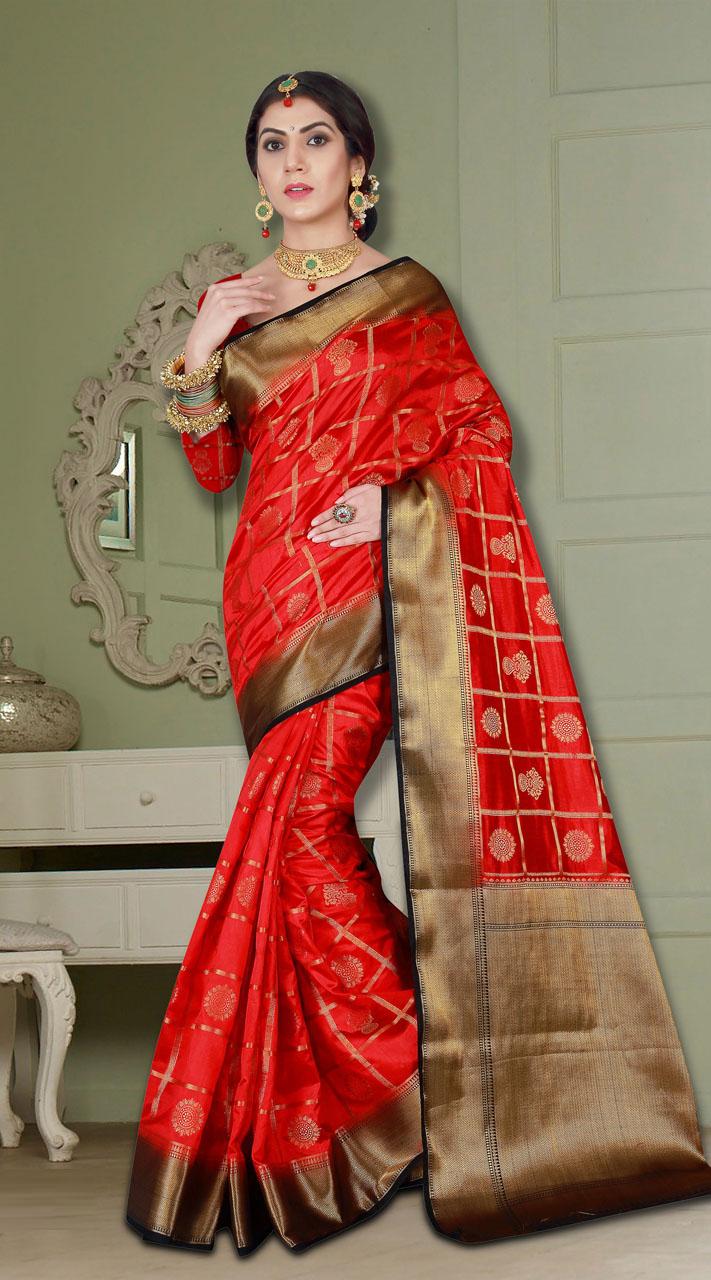 5882626e67 Wedding Wear Desinger Saree with Heavy Look Banarasi Silk Saree ...