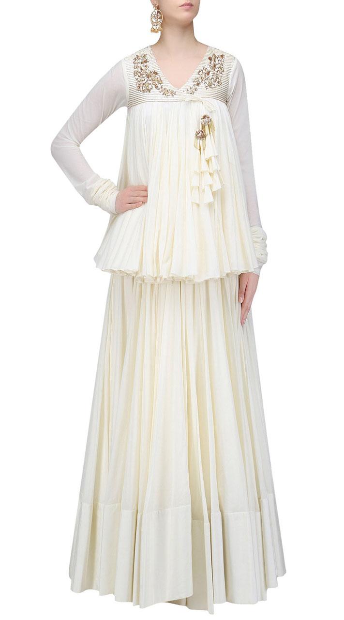 5e46364098 Contemporary Georgette Off White Designer Lehenga Choli SUUDL22819