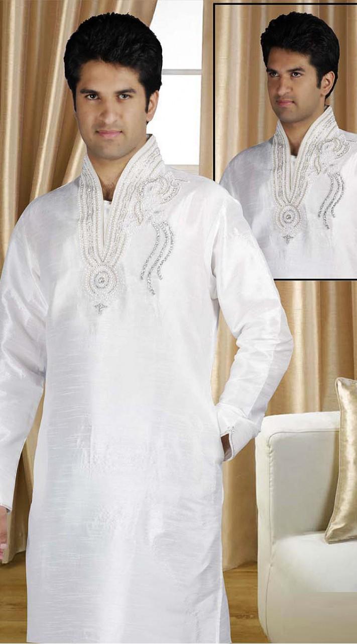 ca918724c4 On Sale DTDKP1823 Luscious Off White Readymade Kurta Pyjama