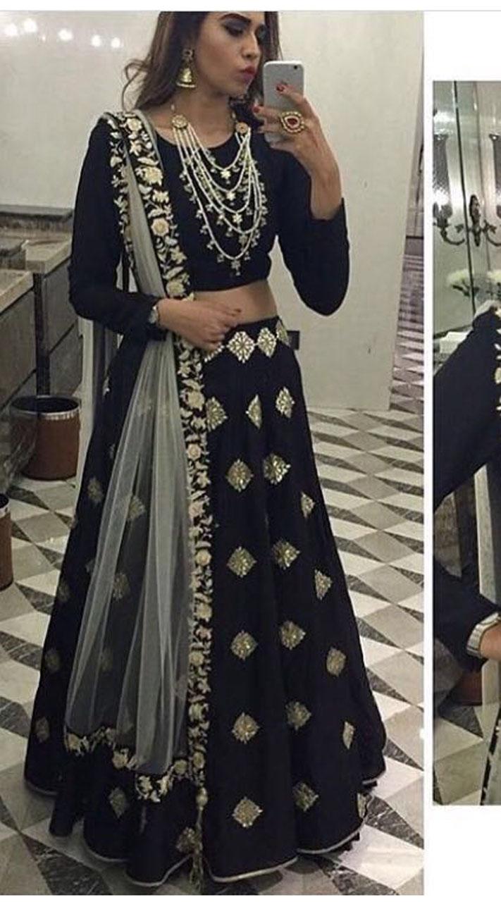 0423525bb0d Exceptionally Made Black Designer Lehenga Choli With Dupatta BP2323