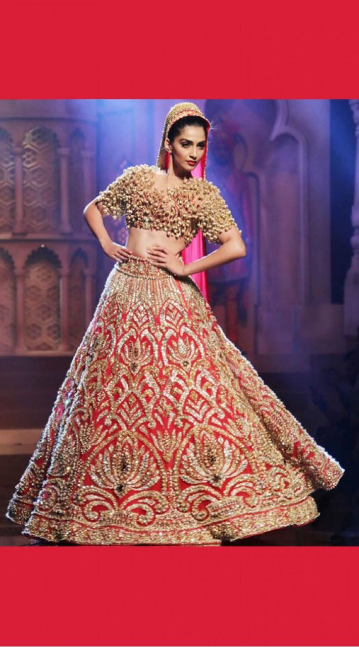 7eb290ad1c Graceful Heavy Work Red Indian Dress Bridal Lehenga Choli SM1204