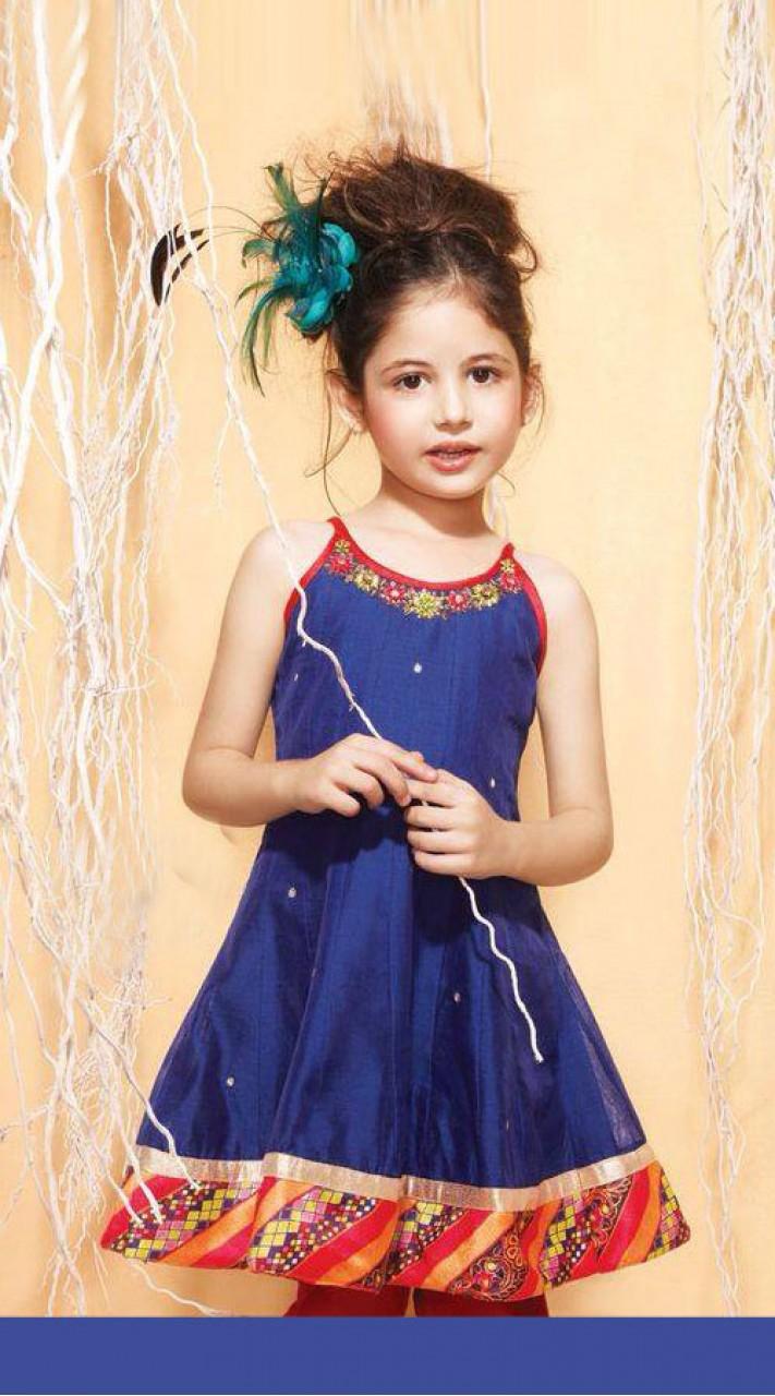 9bd8ef8d7 Harshaali Malhotra Blue Net Baby Girl Suit BP0532