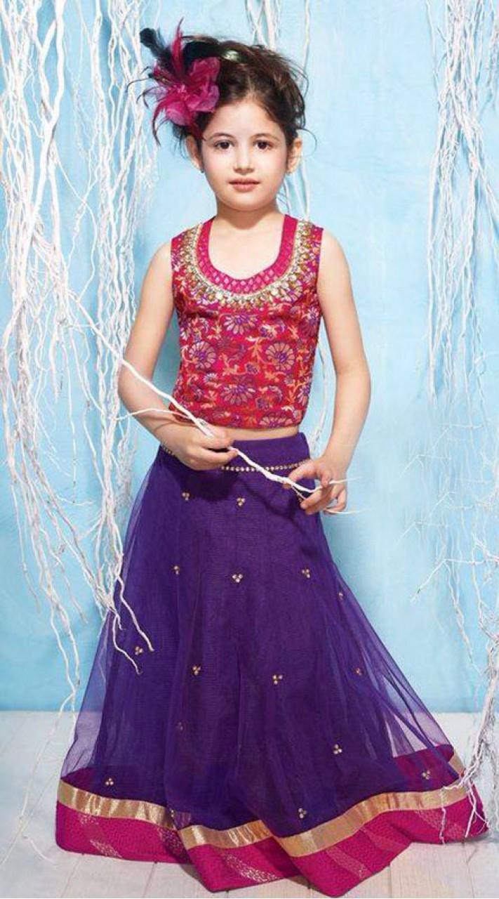 harshaali malhotra purple net baby girl lehenga bp2232