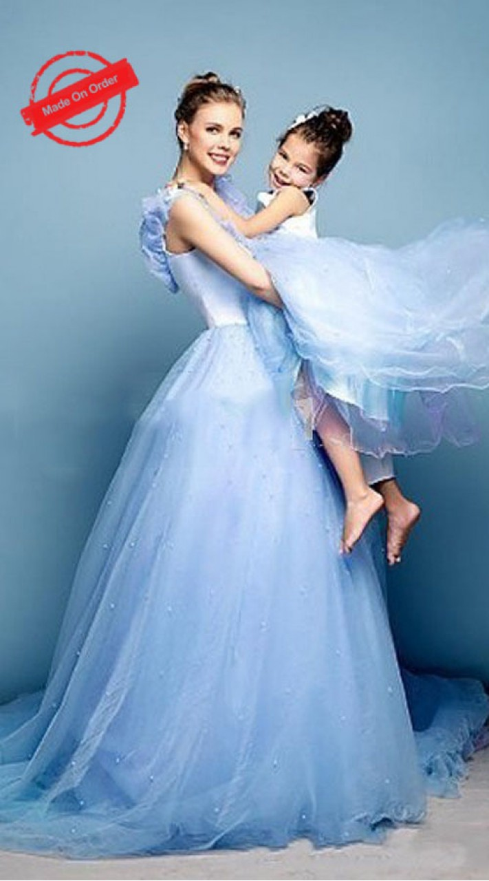 Blue Like Mother Like Daughter Cinderella Dress BP4416
