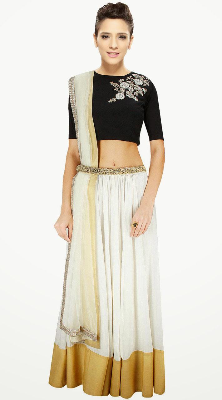 98982725b38e7 Stunning White Cotton Silk And Net Lehenga Choli With Dupatta SUUDL3313