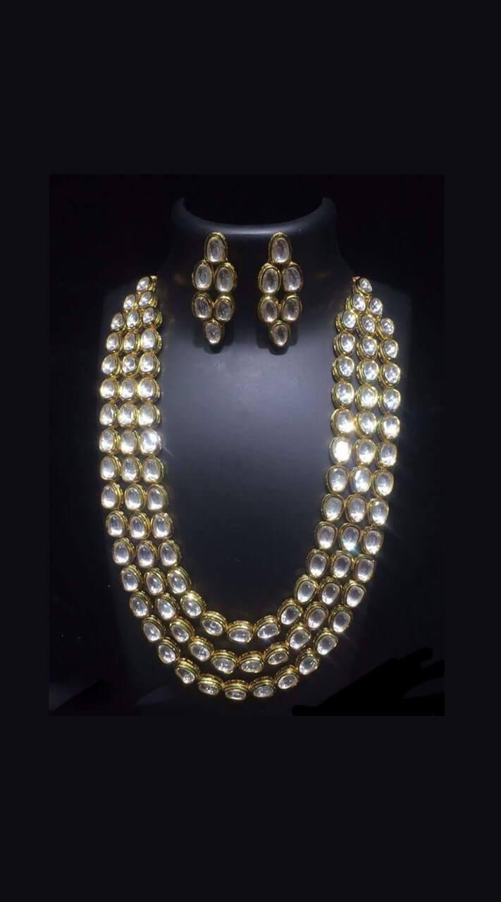 b2e3893698 Charming Golden Kundan Jewellery Jewellery For Evening Party Wear