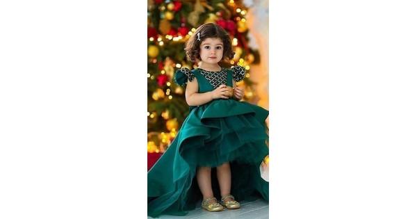 7378fa1daa Appealing Green Silk Long Tail Gown WJ44014