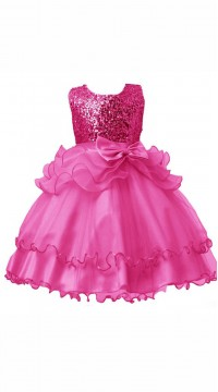 a60dd795a Red Net Kids Girl Designer Embroidered Gown DTK2352