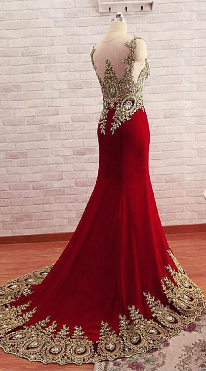 4d0d1ed276 Red Net Hand Work Long Trail Gown for Wedding WJ64720