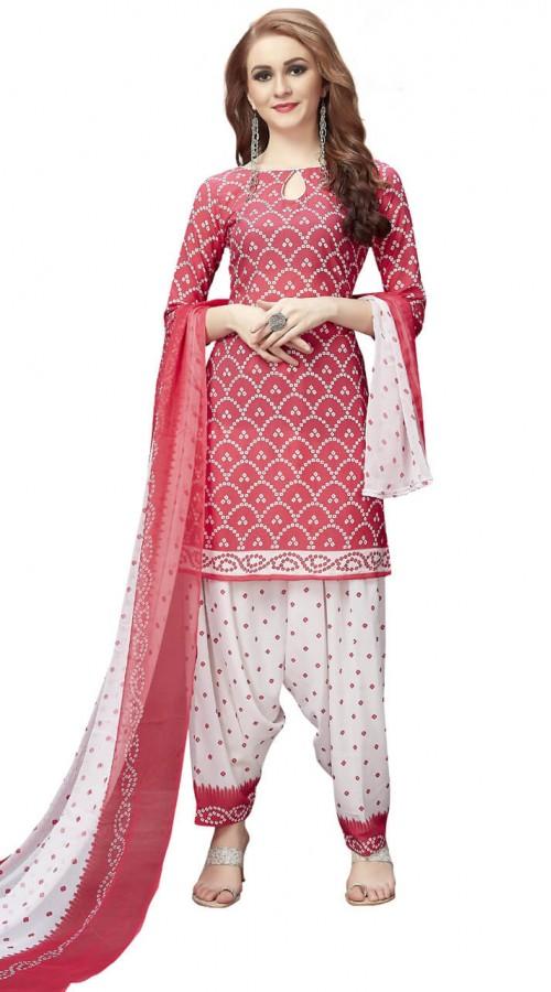 3f26469e8e Light Pink Crepe Patiala Salwar Kameez for Office MV2884581