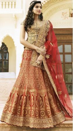 Designer Red Bridal Lehenga Choli With Matching Dupatta 2WV1505022