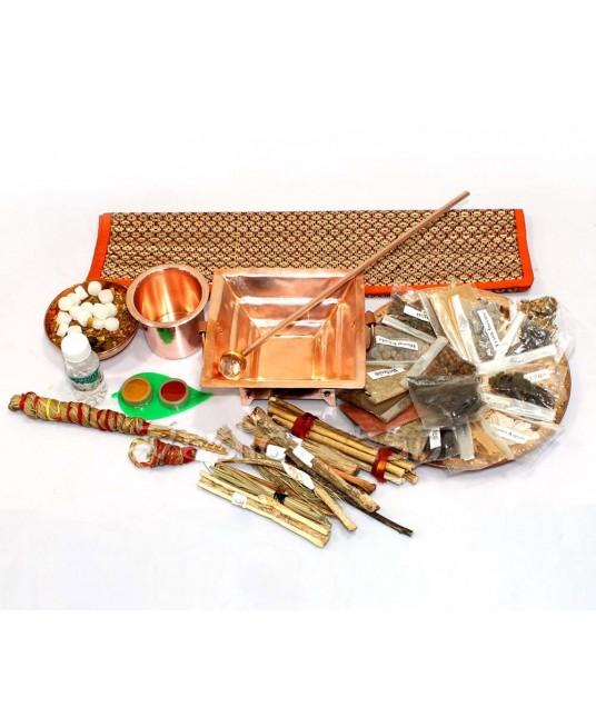 Organic Yagna Havan Puja Kit with havan sticks