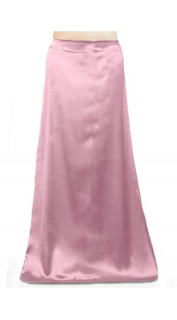 Satin Readymade Petticoat in Baby Pink