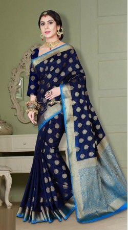 Beautiful Designer Look Banarasi Silk Saree with Blouse