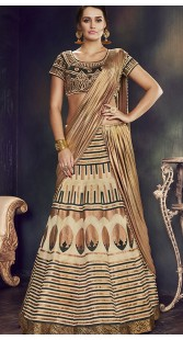 Bollywood Style Party Wear Raw Silk Lehenga Saree
