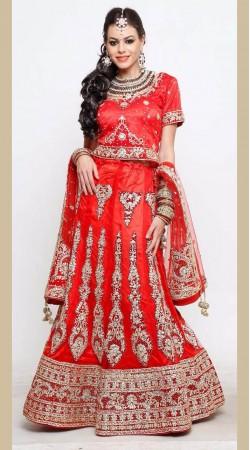 Red Lehenga Choli For Bridal Wear