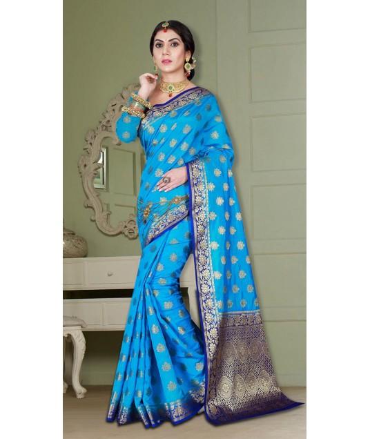 Elegant Look Designer Wear Banarasi Silk Saree