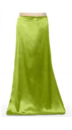 Satin Readymade Petticoat in Light Green