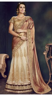 Party And Wedding Net Brocade Lehenga Saree