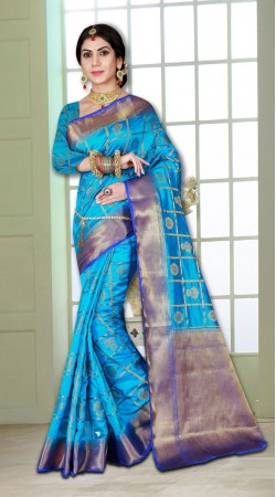 Party Wear Traditainal Banarasi Silk Saree with Heavy Blouse