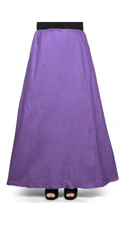 Cotton Readymade Petticoat in Purple