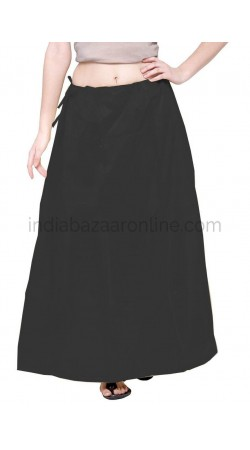 Shimmer Readymade Black Petticoat