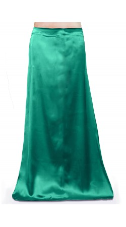 Satin Readymade Petticoat in Teal Green