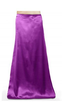 Satin Readymade Petticoat in Violet