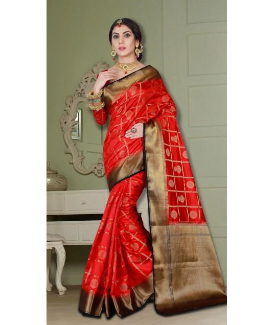 Wedding Wear Desinger with Heavy Look Banarasi Silk Saree