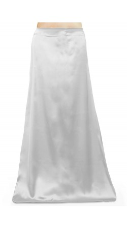 Satin Readymade Petticoat in White