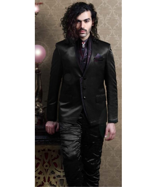 IBDT112212 Black Groom Designer Suit
