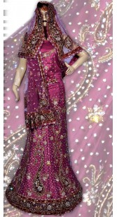 RB149125 Rani Pink Silk Wedding Lehenga