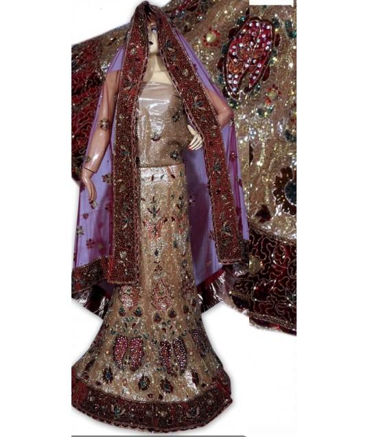 RB149147 Natural Shimmer Wedding Lehenga