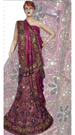 RB149150 Dark Pink Shimmer Wedding Lehenga