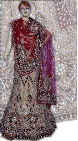 RB149158 Natural Shimmer Wedding Lehenga