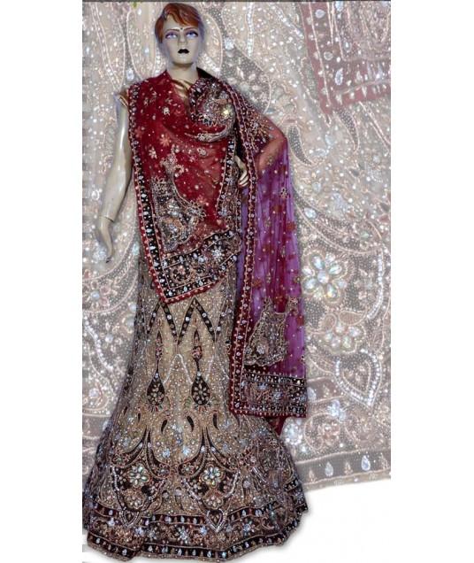RB149158 Natural Shimmer Wedding Lehenga