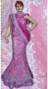 RB149160 Pink Shimmer Wedding Lehenga