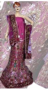 RB149161 Dark Pink Shimmer Wedding Lehenga