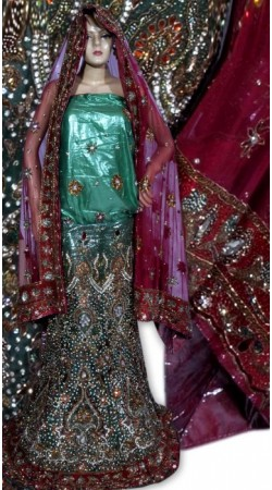 RB149171 Teal Shimmer Wedding Lehenga
