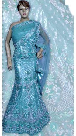 RB149173 Aqua Shimmer Wedding Lehenga