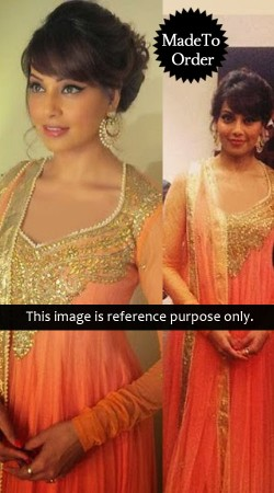 Orange Bipasha Basu Replica Bollywood Salwar Kameez 023