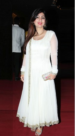 Adorable Sequins Work Border White Net Super Plain Anarkali Suit BP1019