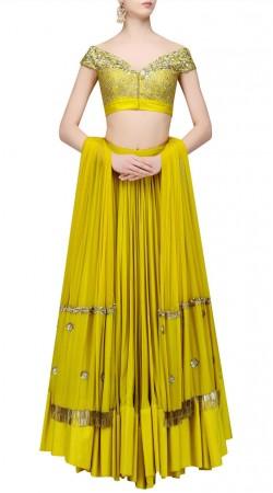 Amazing Mehndi Green Crepe Lehenga With Designer Choli SUUDL22719