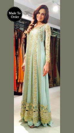 Aqua Net Embroidered Replica Party Wear Salwar Kameez SMDS0OOO