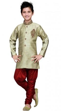 Art Silk Kid Boy Indo Western Sherwani For Party GR18014