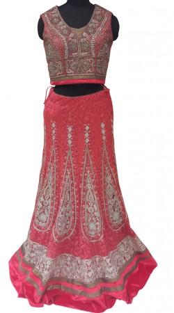 Awe Inspiring Embroidered Magenta Pink Designer Lehenga Choli LD001207